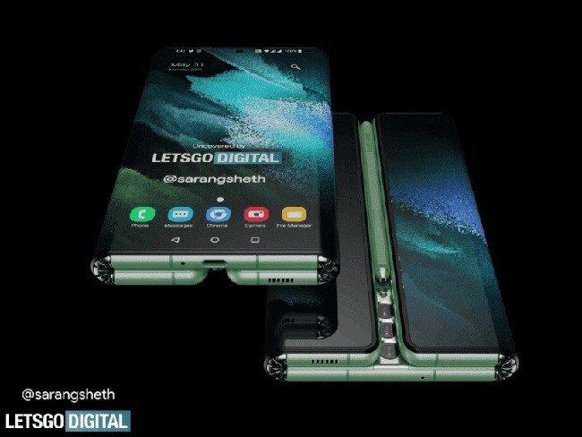 Samsung Galaxy Z Fold Tab.