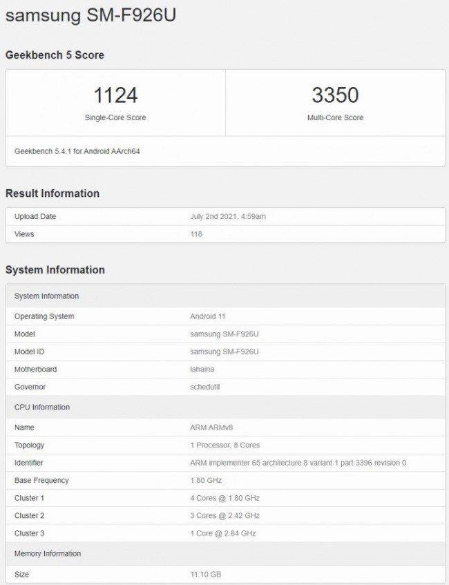 Samsung Galaxy Z Fold3 SM-F926U