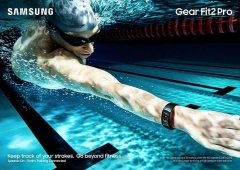 Samsung Gear Fit2 Pro apresentada oficialmente com resistência à água