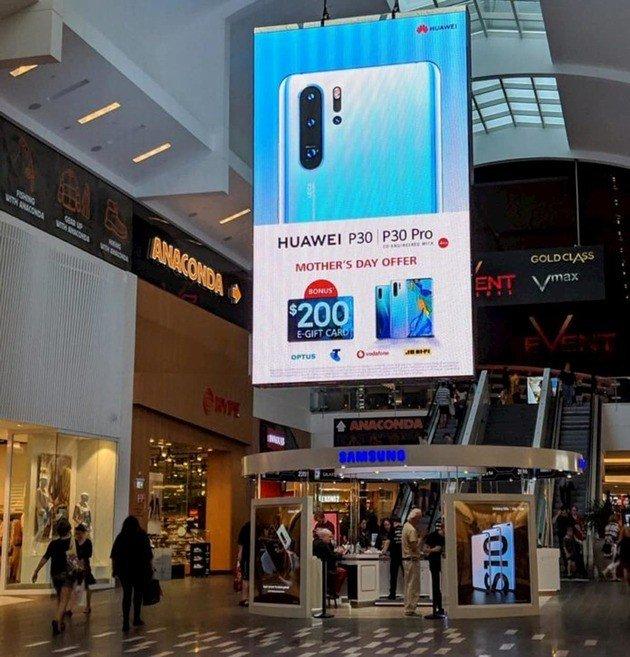 Samsung Huawei publicidade