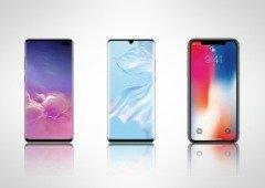 Samsung e Huawei longe da Apple em vendas de smartphones premium