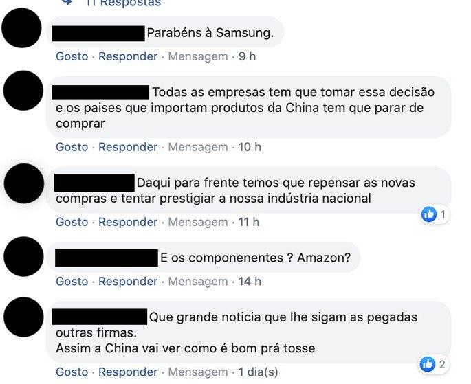 Samsung Made in china comentários