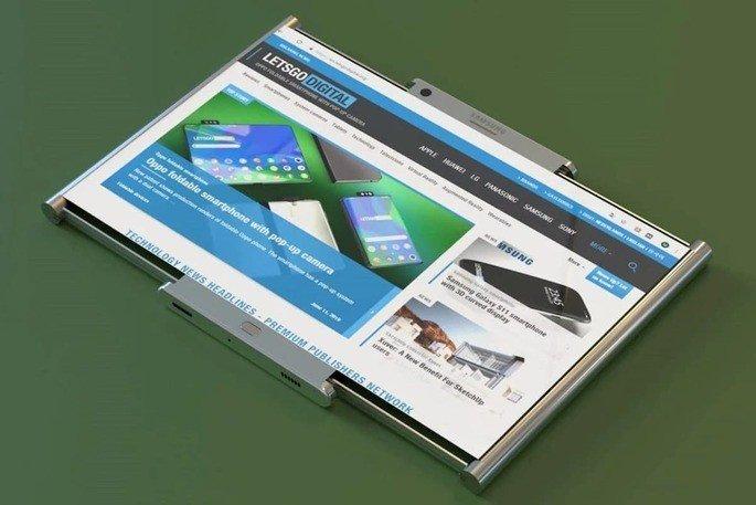 Samsung smartphone rolável