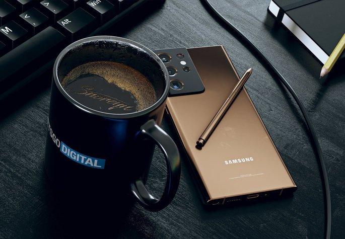 Conceito do Samsung Galaxy Note 21 Ultra. Crédito: LetsGoDigital