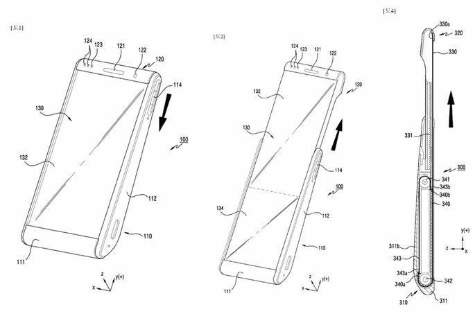 samsung patente smartphone rolável
