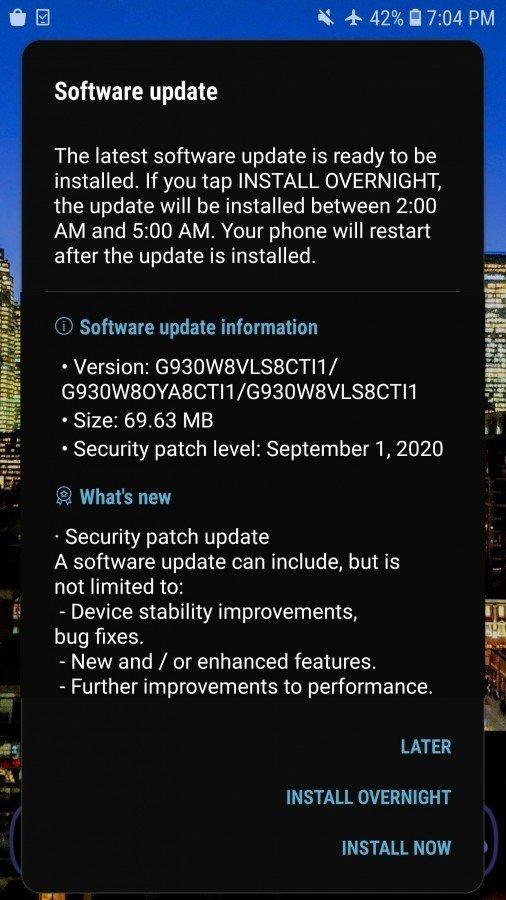Atualização Samsung Galaxy S7