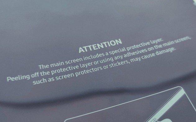 Samsung Galaxy Fold Aviso