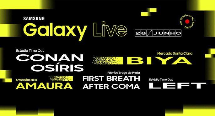 Cartaz Galaxy Live concerto online