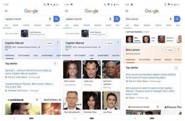 Pesquisa Google novo design