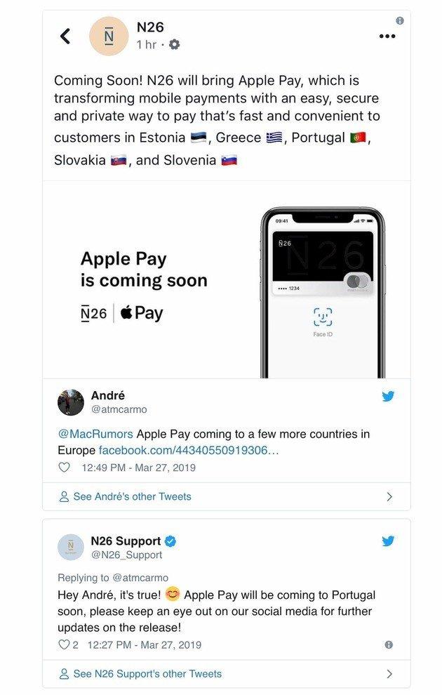 Apple Pay Portugal confirmação