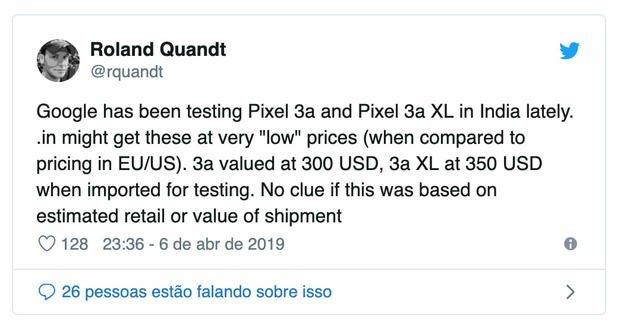 Preços do Pixel
