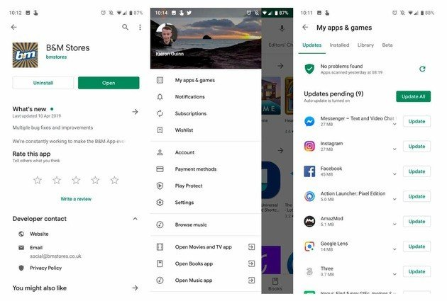 Google Play Store novo design 2