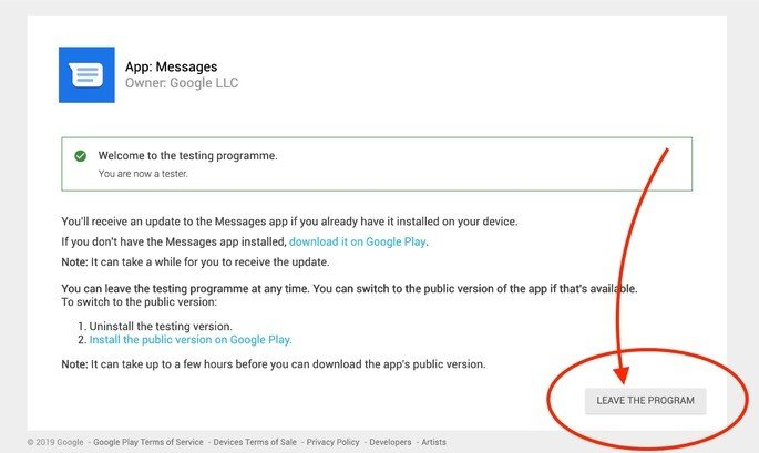 Beta Mensagens Android