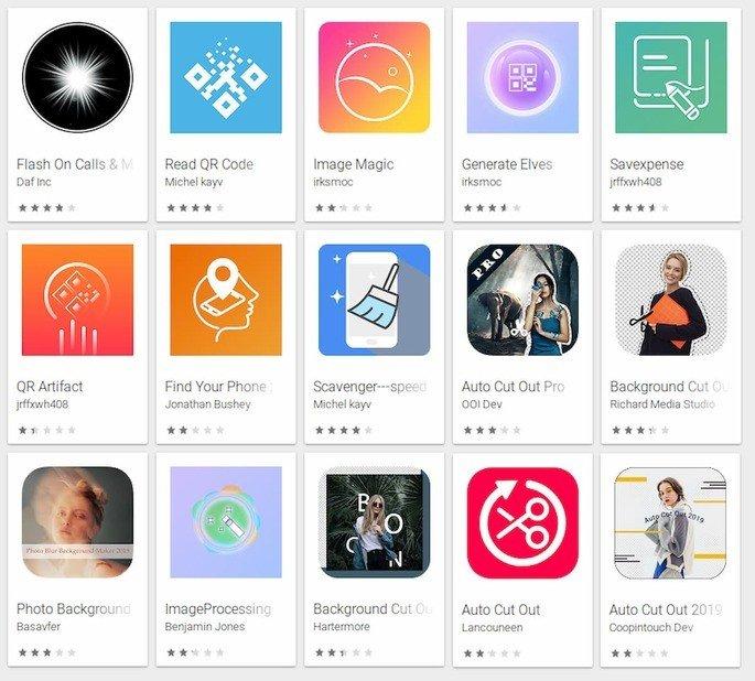 Google Play Store apaga 15 Apps