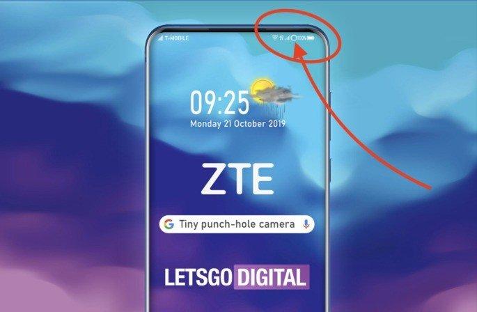Exemplo da patente do smartphone da ZTE