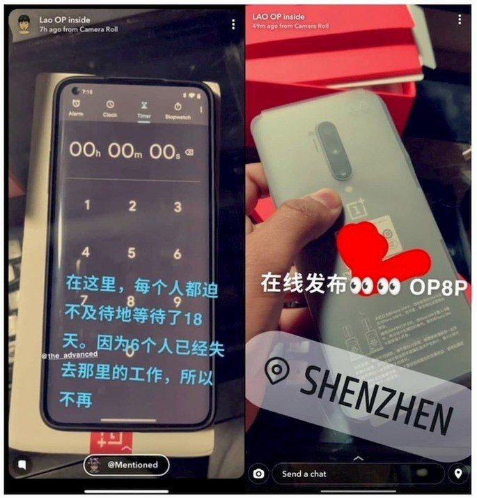 OnePlus 8 e 8 Pro