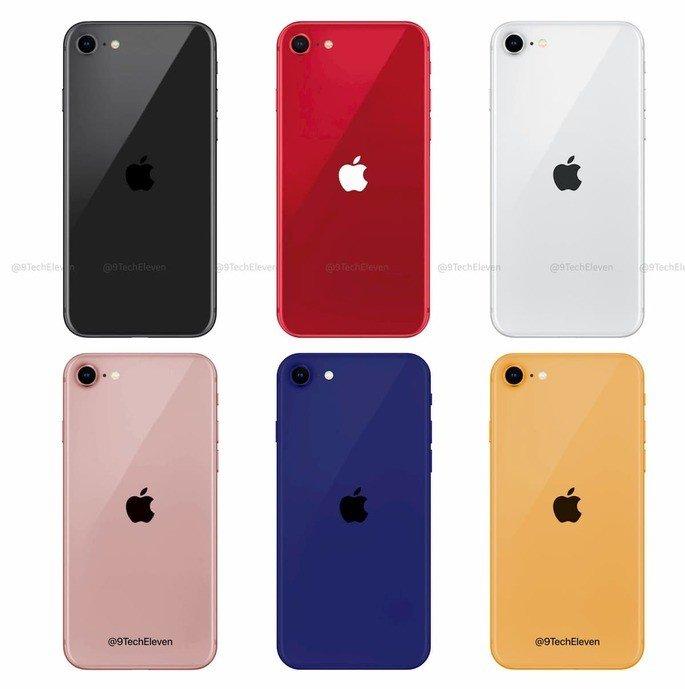 Estas serão as cores da Apple para o novo iPhone 9 (iPhone SE 2)