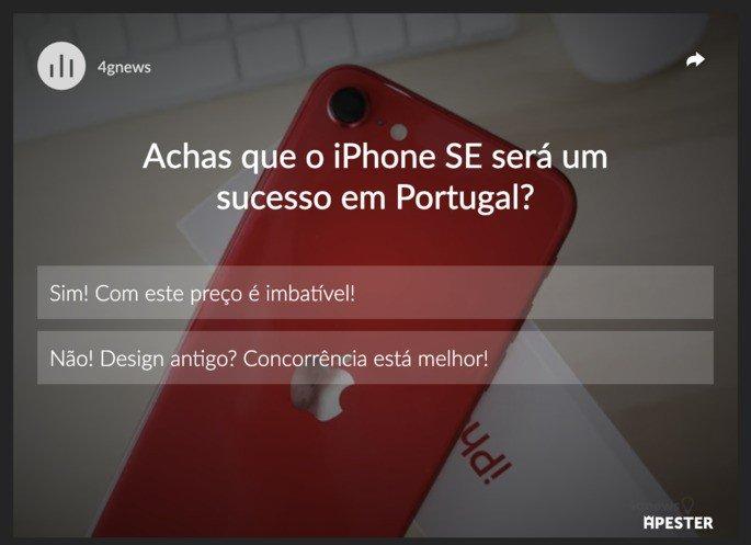 Achas que o iPhone SE será um sucesso em Portugal?