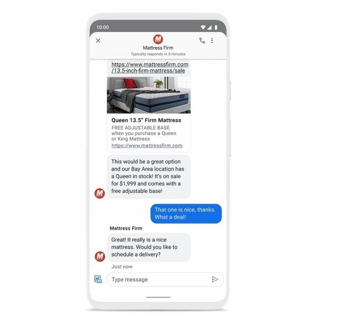 Google search messages