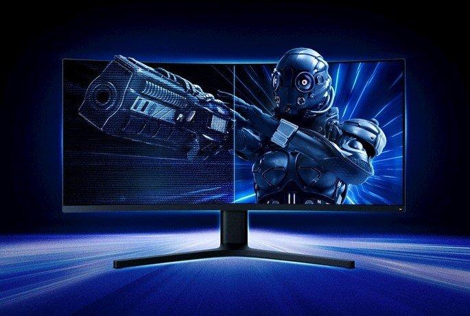 Monitor curvo gaming de 34' polegadas da Xiaomi
