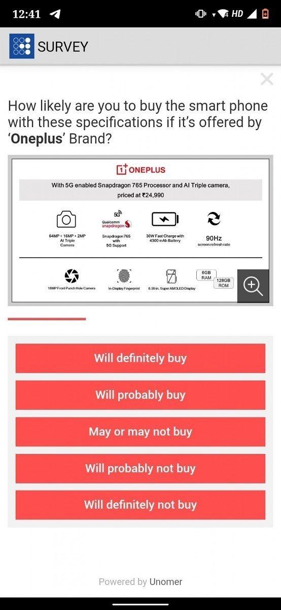 Dados divulgados sobre o alegado OnePlus Z
