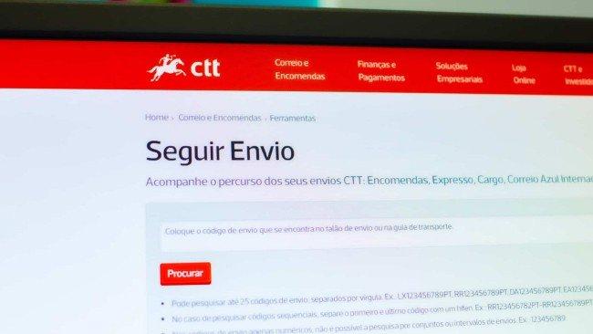 Seguir encomendas internacionais CTT Tracking
