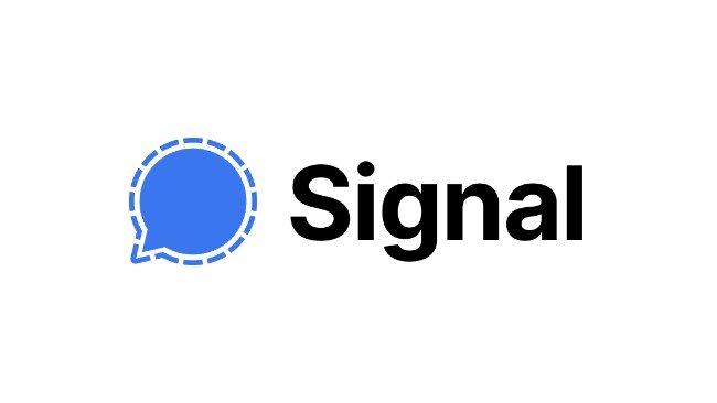logótipo da Signal em fundo branco