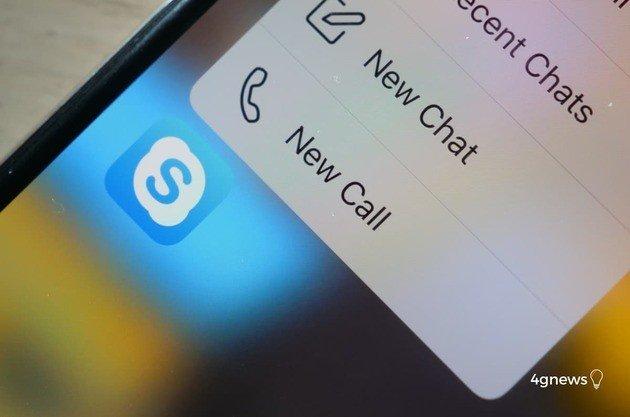 Skype aplicação para iPhone