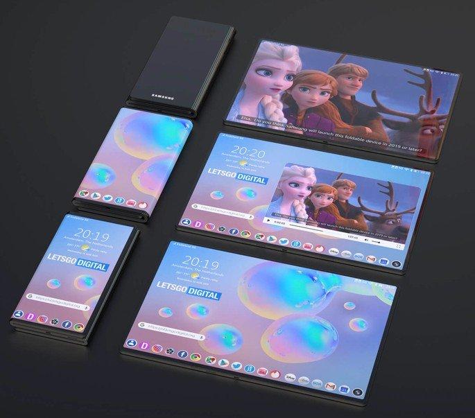 Smartphone dobrável Samsung