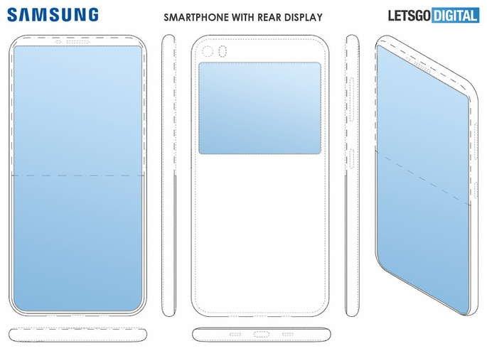 samsung patente dois ecrãs smartphone