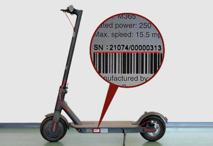 mi electric scooter serial number