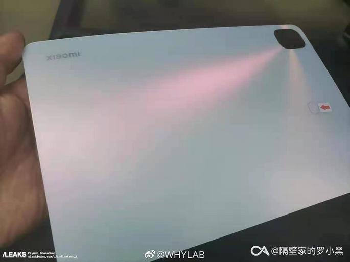 Imagem real do Xiaomi Mi Pad 5. Via: SlashLeaks