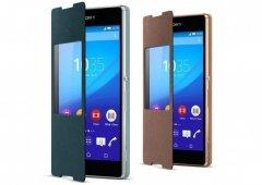 Os novos acessórios para o Sony Xperia Z3+, a capa SCR30 e a base DK53