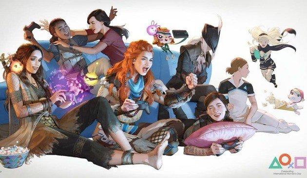Sony PlayStation 4 tema grátis dia da mulher