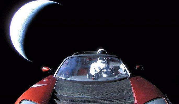 Tesla Roadster Space Car Elon Musk