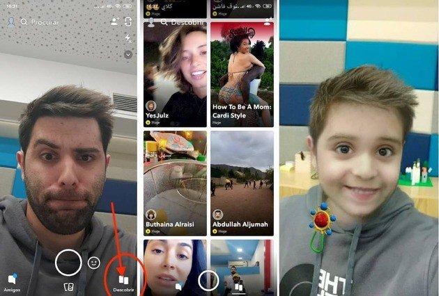 Snapchat filtro