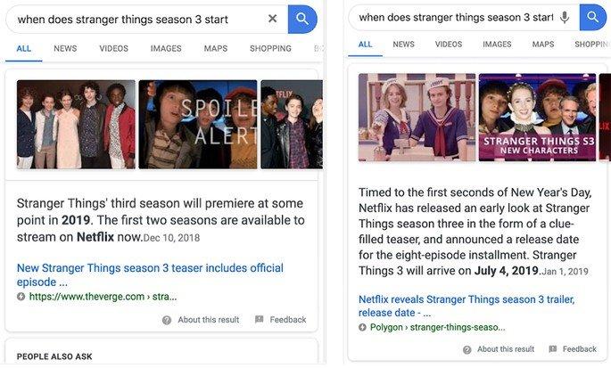 stranger things pesquisa Google