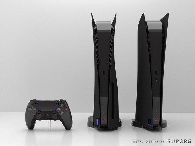 Consola PS5 Preta da SUP3R5