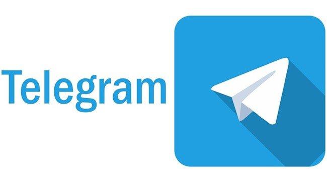 Logo do Telegram em fundo branco