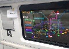 """""""Televisões"""" transparentes começam a chegar aos comboios e metros"""