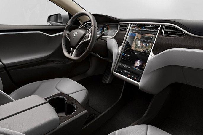 Interior do Tesla Model S