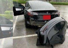 Tesla: condutores reclamam que para-choques sai ao passar numa poça de água (vídeo)