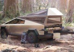 """Tesla Cybertruck como """"modo campismo"""" vai ser perfeita para aventuras na natureza!"""