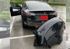Tesla diz toda a verdade! Poças de água são um pesadelo para o Tesla Model 3