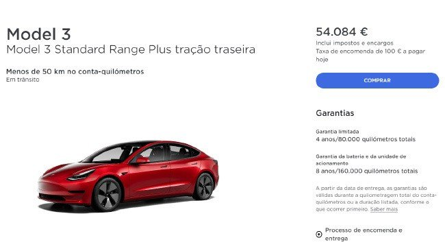 Tesla Model 3 Portugal