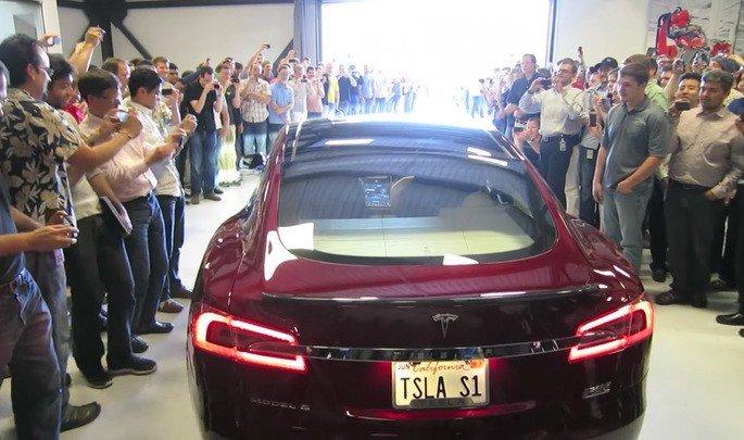 Tesla Model S primeiro modelo