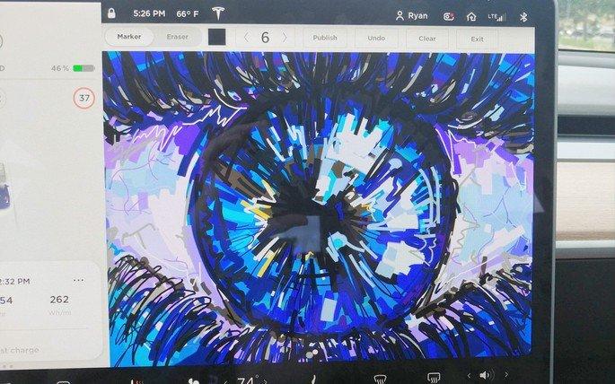 Tesla Sketchpad art