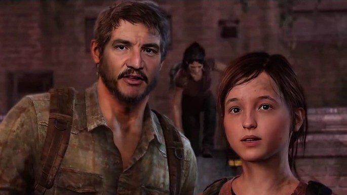 Montagem que imagina os atores da série no jogo The Last of Us