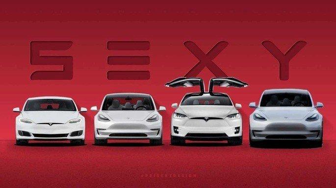 Modelos carros elétricos da Tesla