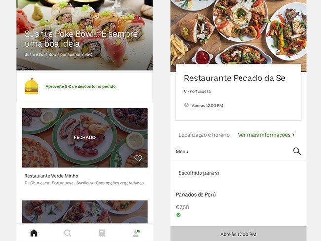 Exemplo Uber Eats 2